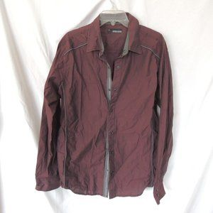 Buckle Black Slim Fit Mens button up shirt size XL